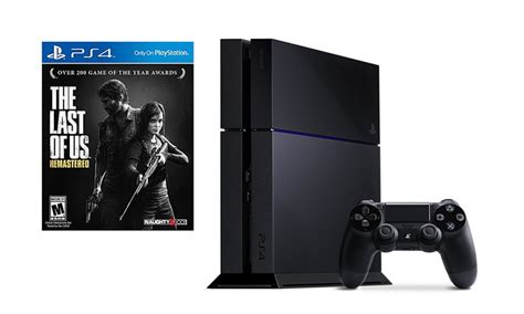ps4 console deals playstation 4 500gb console and the last of us bundle