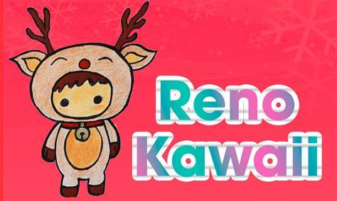 imagenes de la navidad kawaii dibuja un reno kawaii navide 241 o dibujos de navidad aprende