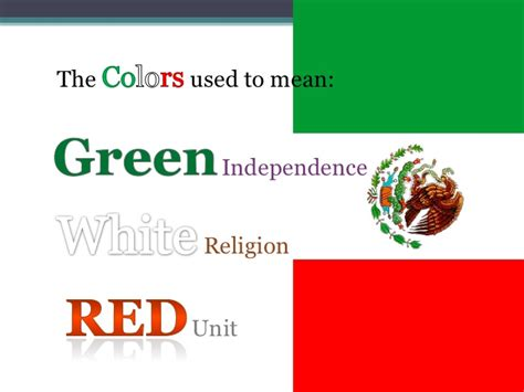 colors of the mexican flag the meaning of color of the mexican flag