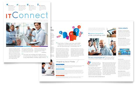 newsletter layout software stay connected with customers with professional newsletter