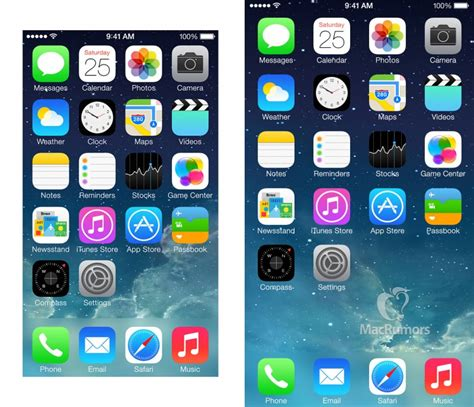 iphone 6 mockups show row of app icons on home
