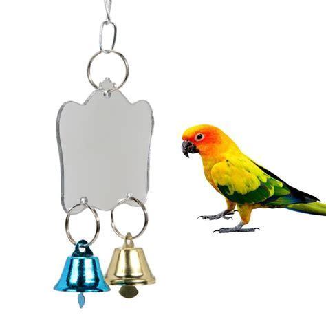 3 Sizes Single Face Mirror Parrot Bird Toys Swing Bird