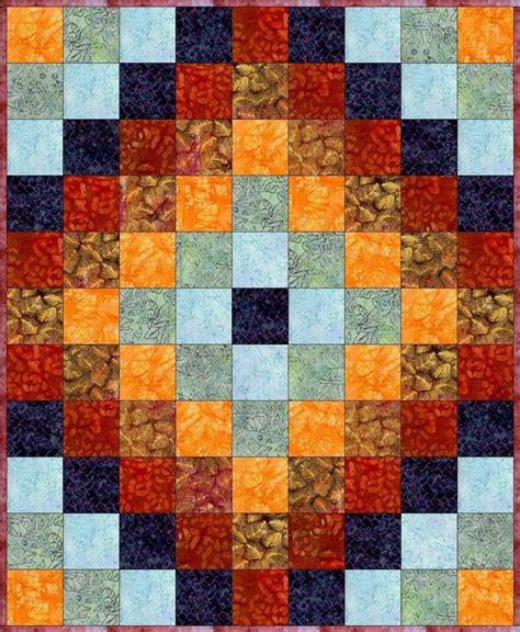 easy  sew   world beginner quilt top kit