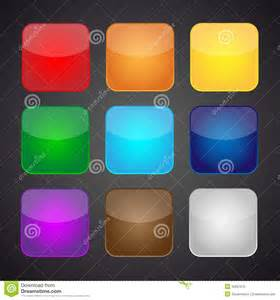 colored app set of color apps icons background stock vector image