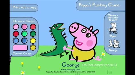 painting for free to play peppa pig peppa s painting