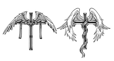 tattoos of crosses with angel wings 70 best wings images on wings