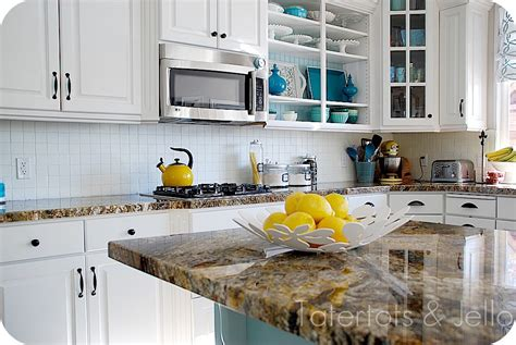 Aqua Kitchen Cabinets by Tatertots And Jello Home Tour