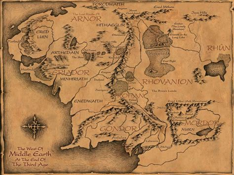 best map of middle earth great map of middle earth pics