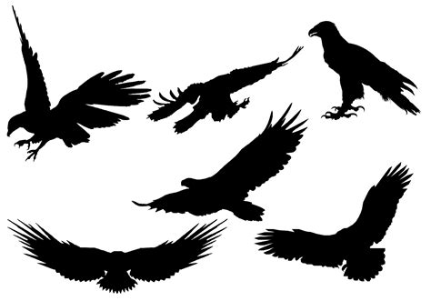 silhouette vector free eagle silhouette vector download free vector art