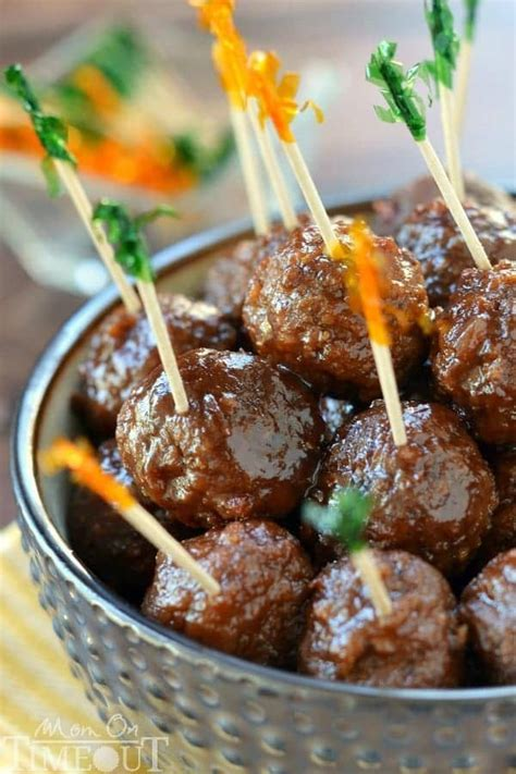 slow cooker cocktail meatballs mom  timeout