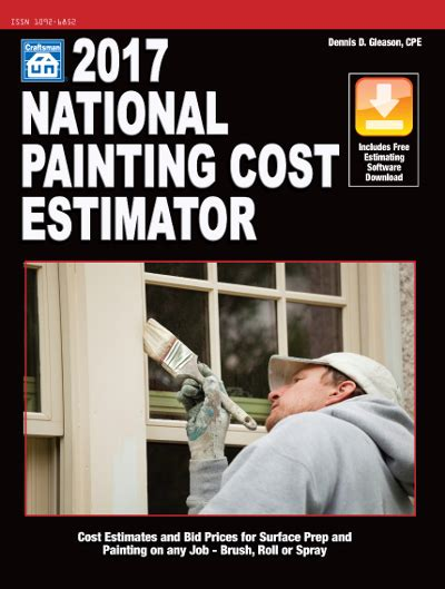 national construction estimator 2018 includes free estimating software books 2017 national painting cost estimator builders book depot