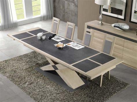 Extensible Table table 224 manger en bois de ch 234 ne etoile plateau c 233 ramique
