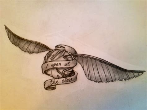golden snitch tattoo quidditch