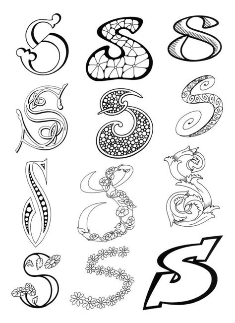 Lettering S