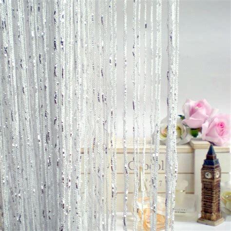 white string curtains white string curtain