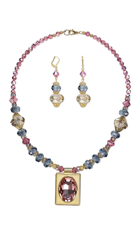 swarovski jewelry ideas jewelry design single strand necklace and earring set