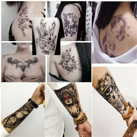 temporary tattoos hb 779 non toxic waterproof flash temporary sticker for