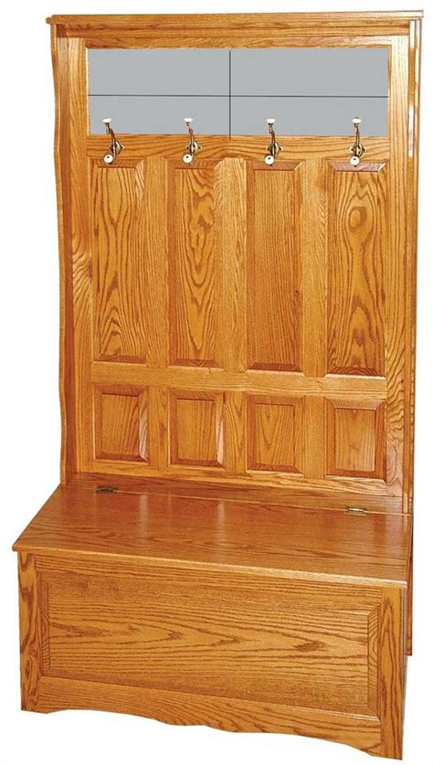 oak hall storage bench amish furniture oak or brown maple toy storage and hall
