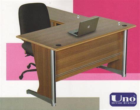 Meja Kantor Letter L uno meja kantor lavender series warna walnut 2 uno lavender series