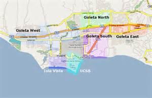 santa barbara restaurant guide map of goleta