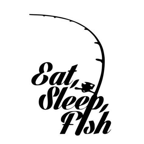 fishing boat sticker designs fishing sticker name fish eat sleep decal angling hooks