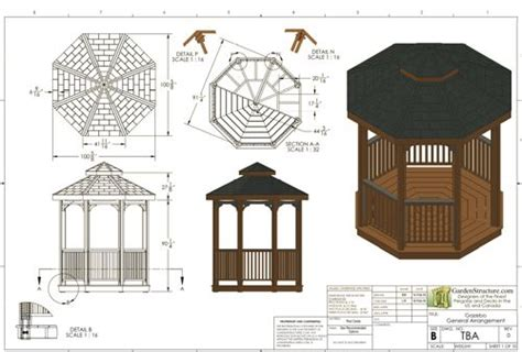 gazebo blueprints 1000 ideas about gazebo plans on patio gazebo