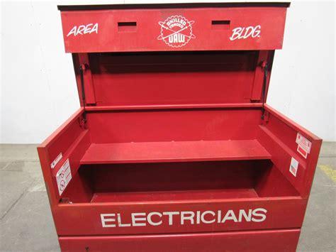 dayton  rolling lockable job box tool box gang box