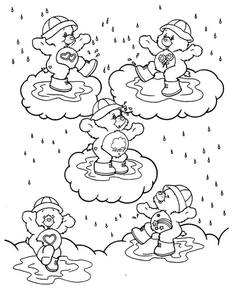 color and learn rain rainy season worksheets kindergarten the seasons