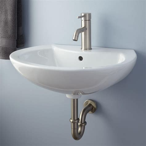 Kitchen Sink Shower Maisie Porcelain Wall Mount Bathroom Sink Bathroom
