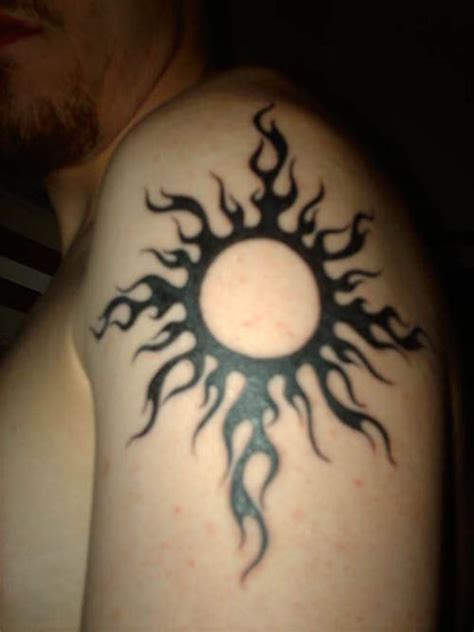tribal sun shoulder tattoo tribal sun tattoos my tattoos zone