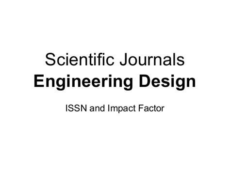 design journal impact factor engineering design target journals
