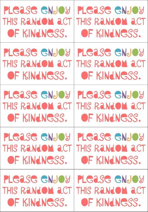 kindness cards template random acts of kindness cards templates 28 images