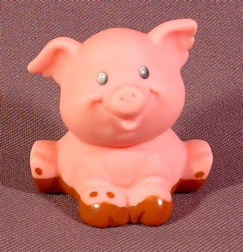 Dust Pluggy Piggy Pig fisher price 1997 baby pig sitting in mud farm animal for 72590 72507 drew