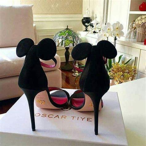shoes black heels minnie mouse disney
