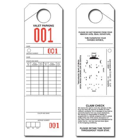 Product Details Designsnprint Valet Parking Tickets Templates