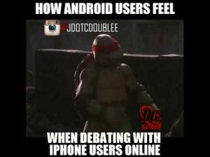 Iphone Users Be Like Meme - iphone vs android kappit