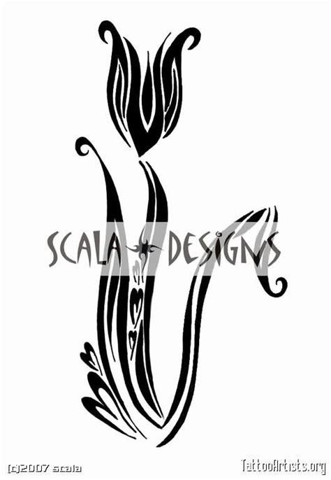 tribal tulip tattoo tulip images designs