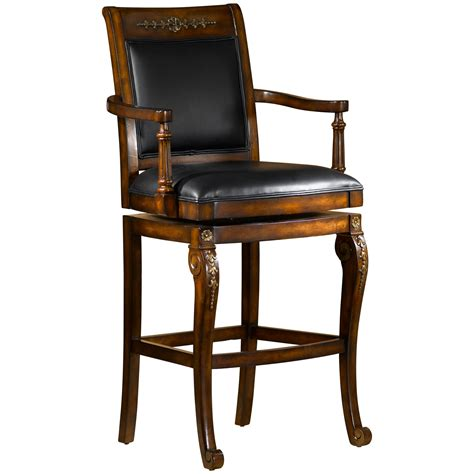 wood swivel bar stools with backs antique brown varnished mahogany wood bar stool with black