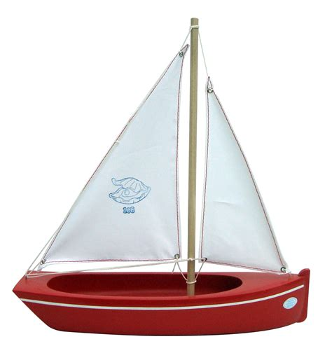 small wooden toy boat small red toy boat handmade with love in brittany france