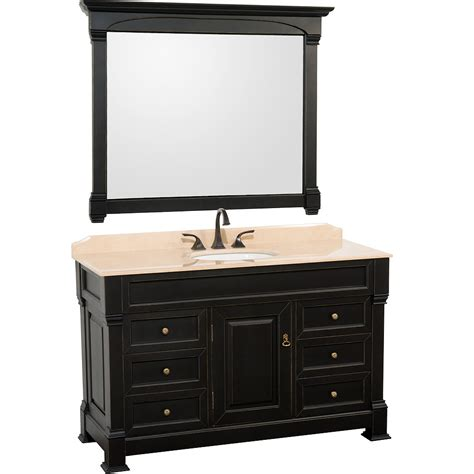 Black Bathroom Vanity 55 Quot Andover Single Bath Vanity Black Bathgems