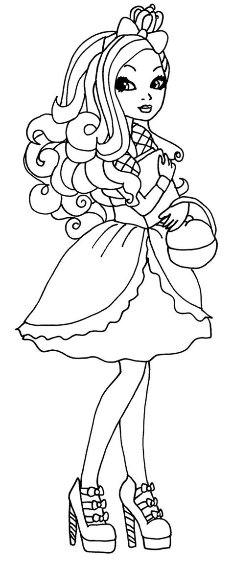 ever after high coloring pages apple white apple by elfkena on deviantart