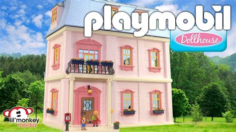 play mobile doll house playmobil deluxe dollhouse youtube