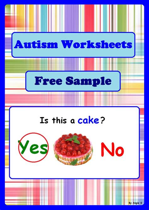 free yes no questions autism worksheets bundle sle