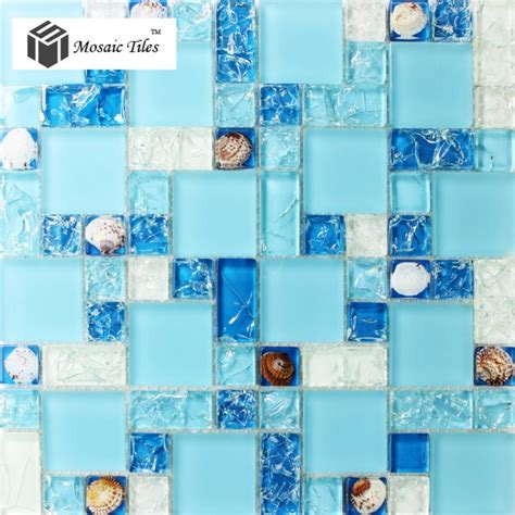 sea glass tile bathroom tst glass conch tiles sea blue glass tile bathroom wall