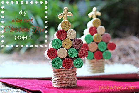 wine cork christmas tree craft pinkwhen