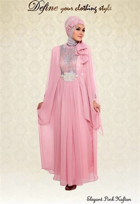 Contoh Busana Muslim Gambar Desain Baju Muslim Kaftan Pesta Contoh Busana