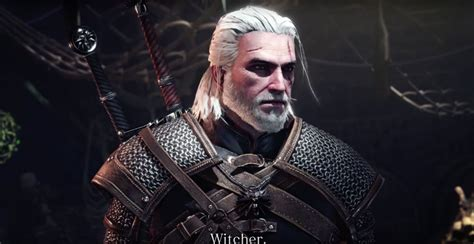play  geralt  monster hunter world