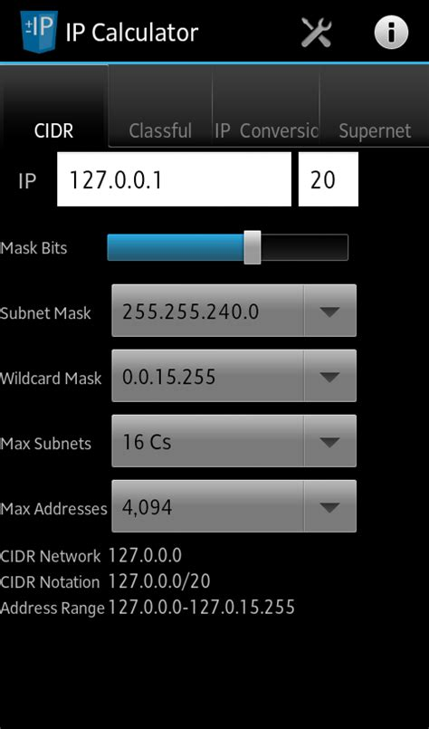 calculator ip network ip subnet calculator android apps on google play