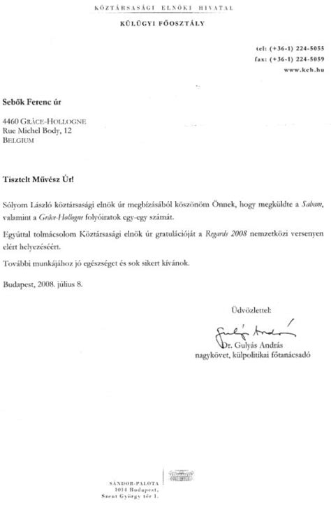 Invitation Letter Hungary by Seb 214 K Ferenc