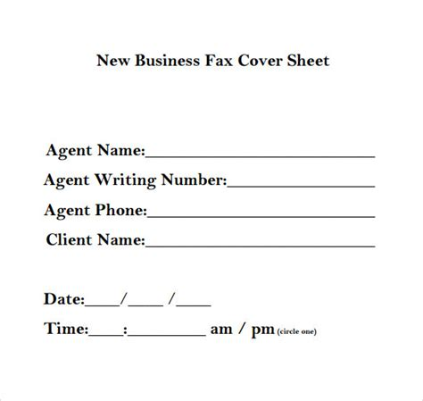 template fax cover sheet business business fax cover sheet 14 free sles exles